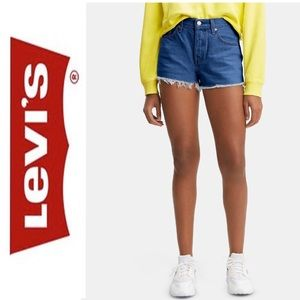 Levi's 501 Cotton High-Rise Denim Shorts